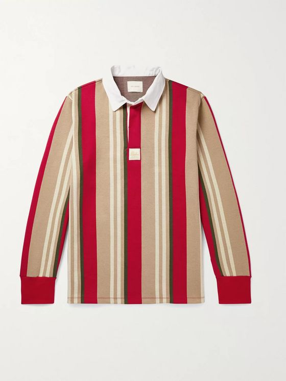 Aimé Leon Dore Striped Cotton-Blend Polo Shirt