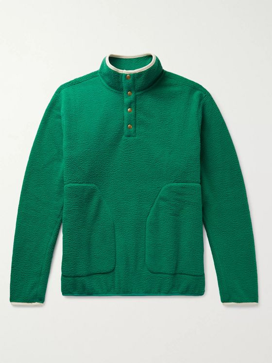 Aimé Leon Dore Microfibre-Trimmed Fleece Half-Placket Sweatshirt