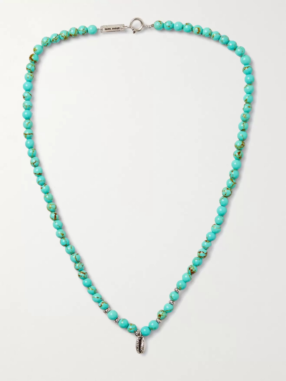 Isabel Marant Stone And Silver-tone Necklace In Blue