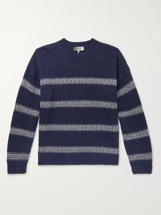 Isabel Marant Oblinca Striped Intarsia Knitted Sweater