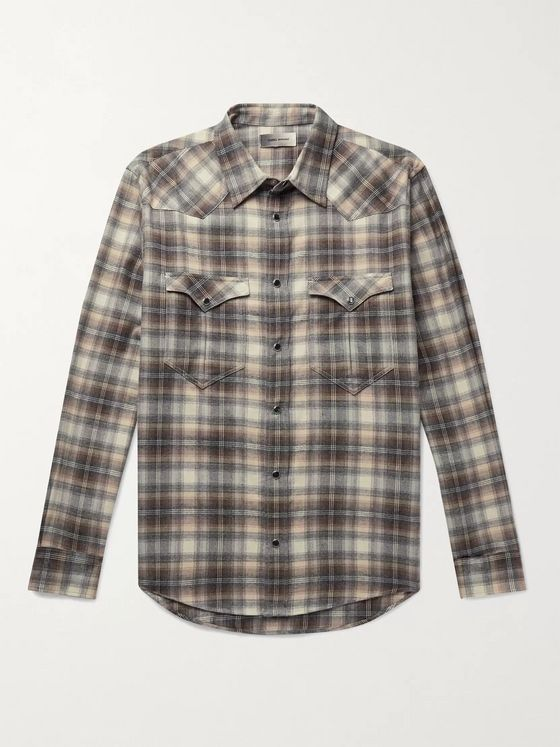 Isabel Marant Pitt Checked Cotton-Flannel Shirt