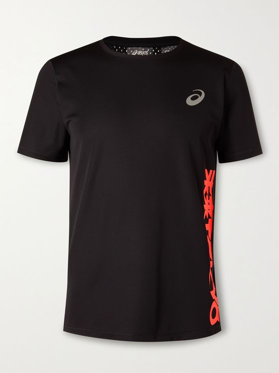 ASICS Future Tokyo Printed Stretch-Jersey and Mesh T-Shirt