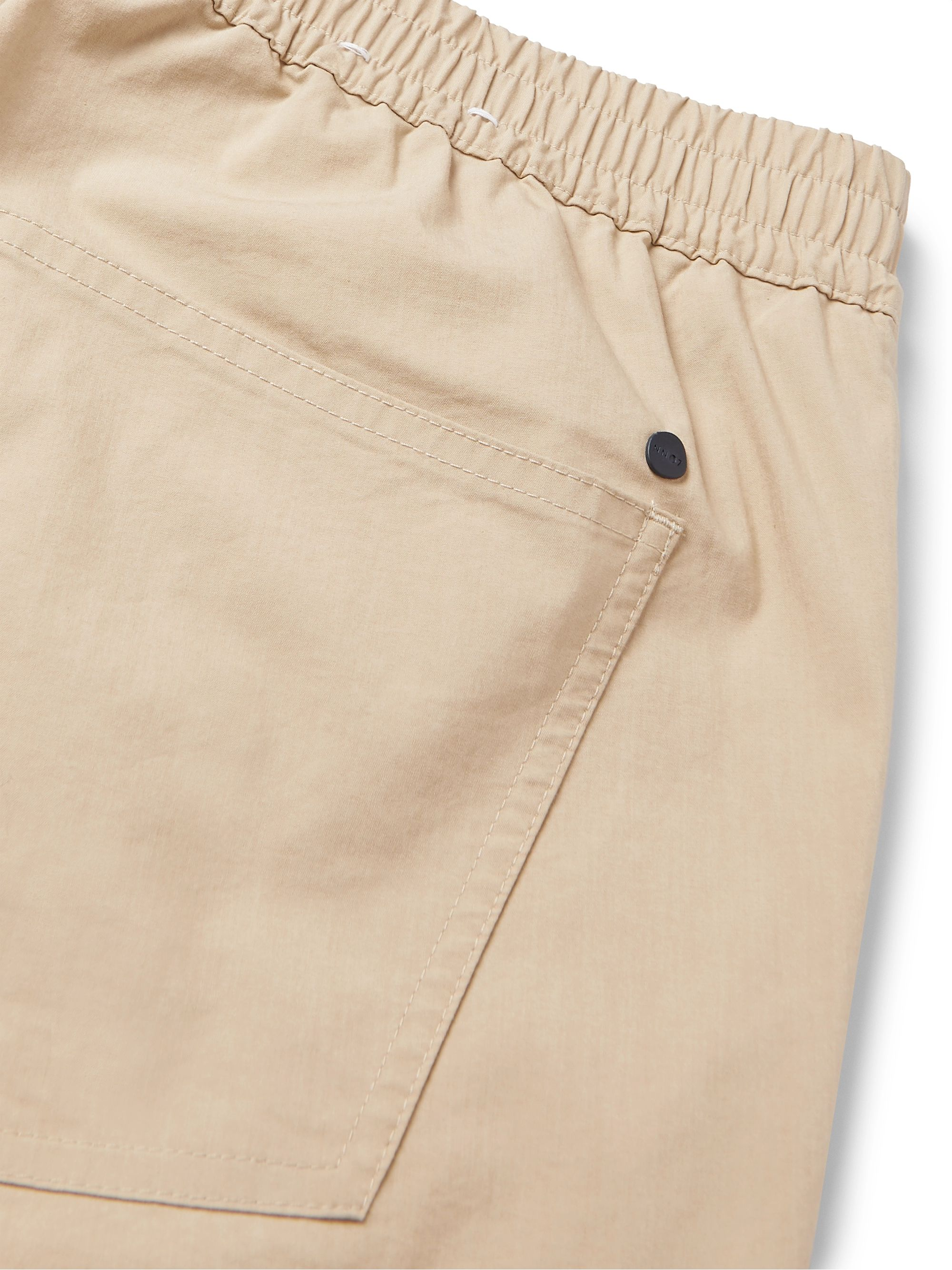 Beige Tristan Stretch Cotton-blend Drawstring Trousers | Nn07