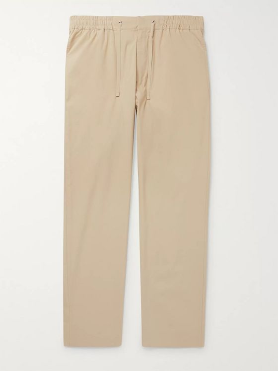 NN07 Tristan Stretch Cotton-Blend Drawstring Trousers