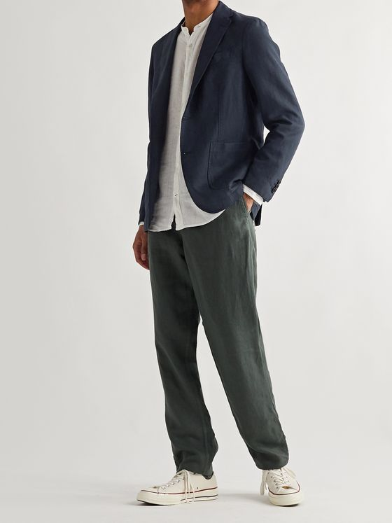 NN07 Harvey Unstructured Lyocell, Linen and Cotton-Blend Blazer