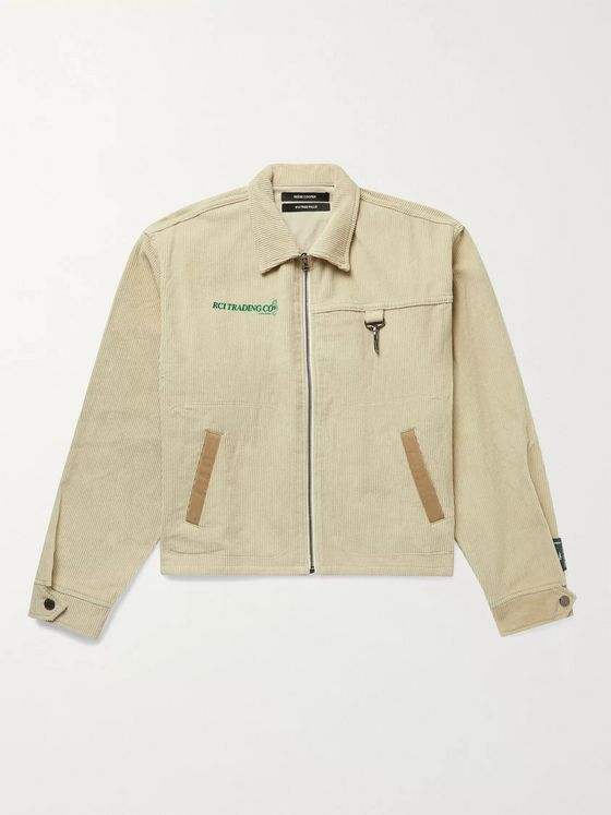 Reese Cooper® Logo-Detailed Twill-Trimmed Cotton-Corduroy Jacket