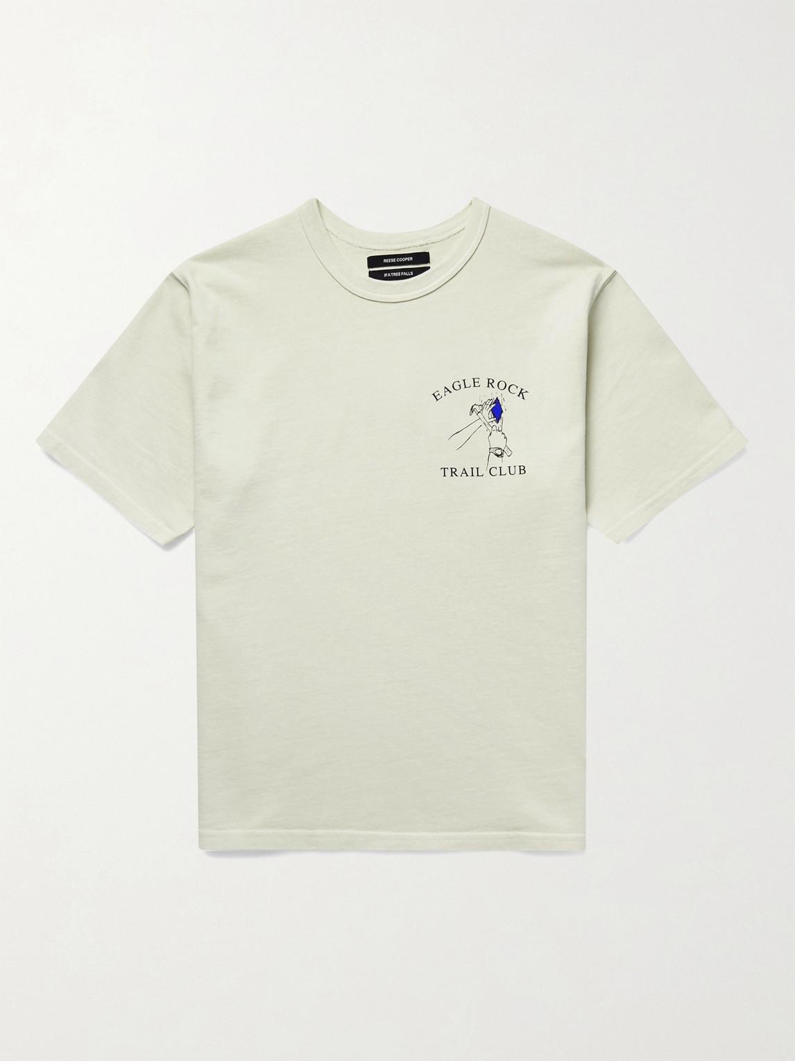 reese cooper® - printed cotton-jersey t-shirt - men - neutrals