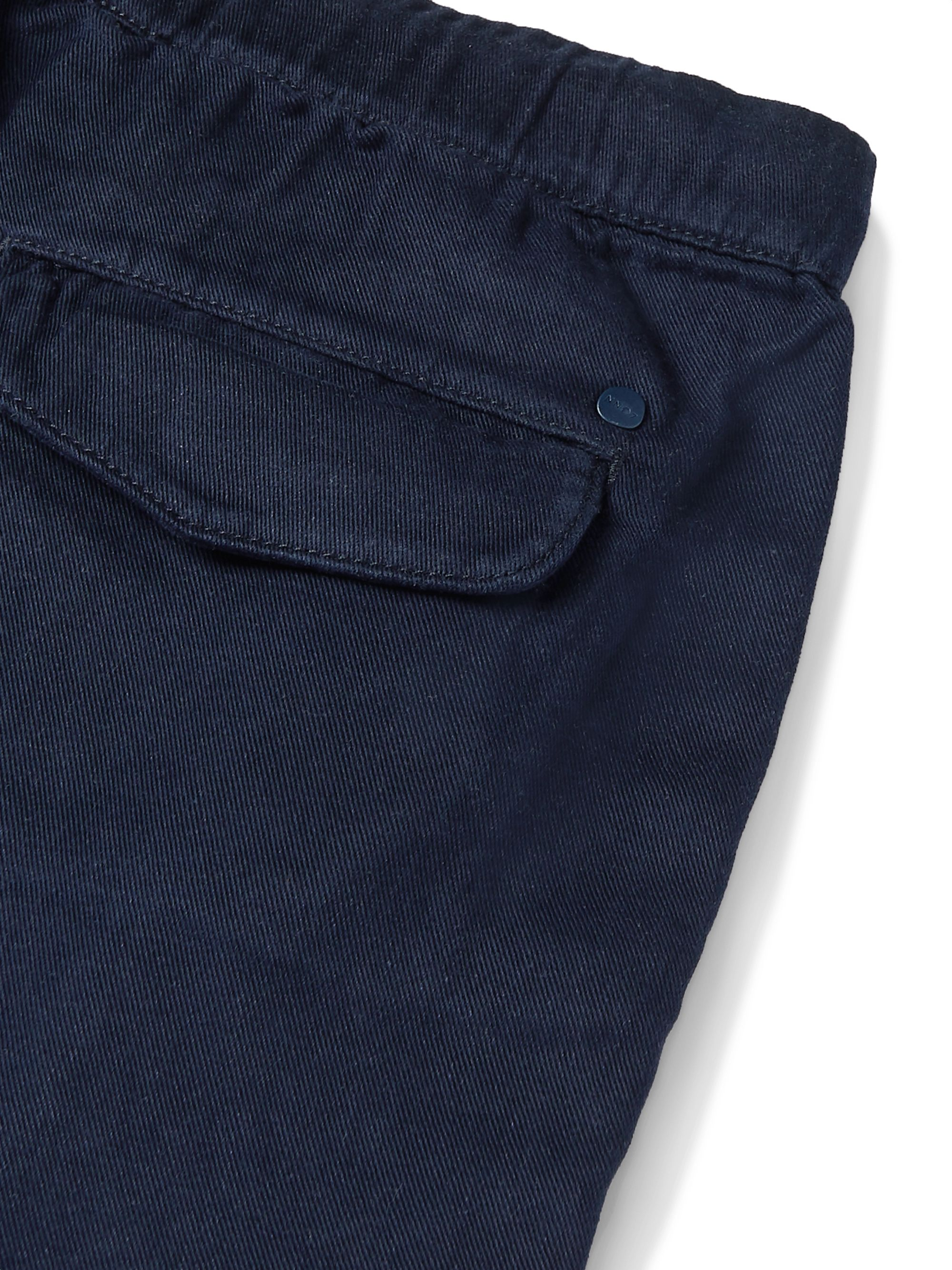 NN07 Pelle Tapered Twill Drawstring Trousers