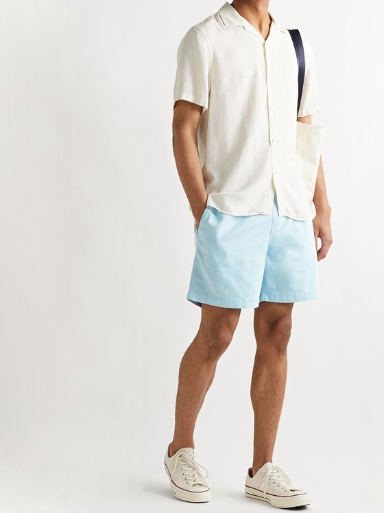 NN07 Gregor Stretch-Cotton Twill Drawstring Shorts