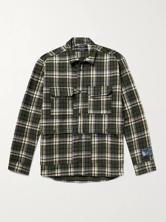 Reese Cooper® Logo-Appliquéd Checked Cotton-Flannel Shirt