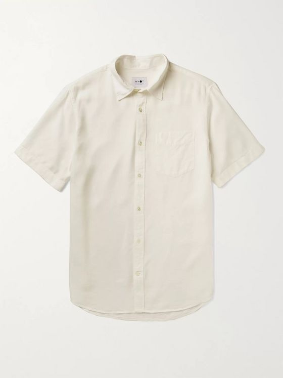 NN07 Tyrion Garment-Dyed Tencel Shirt