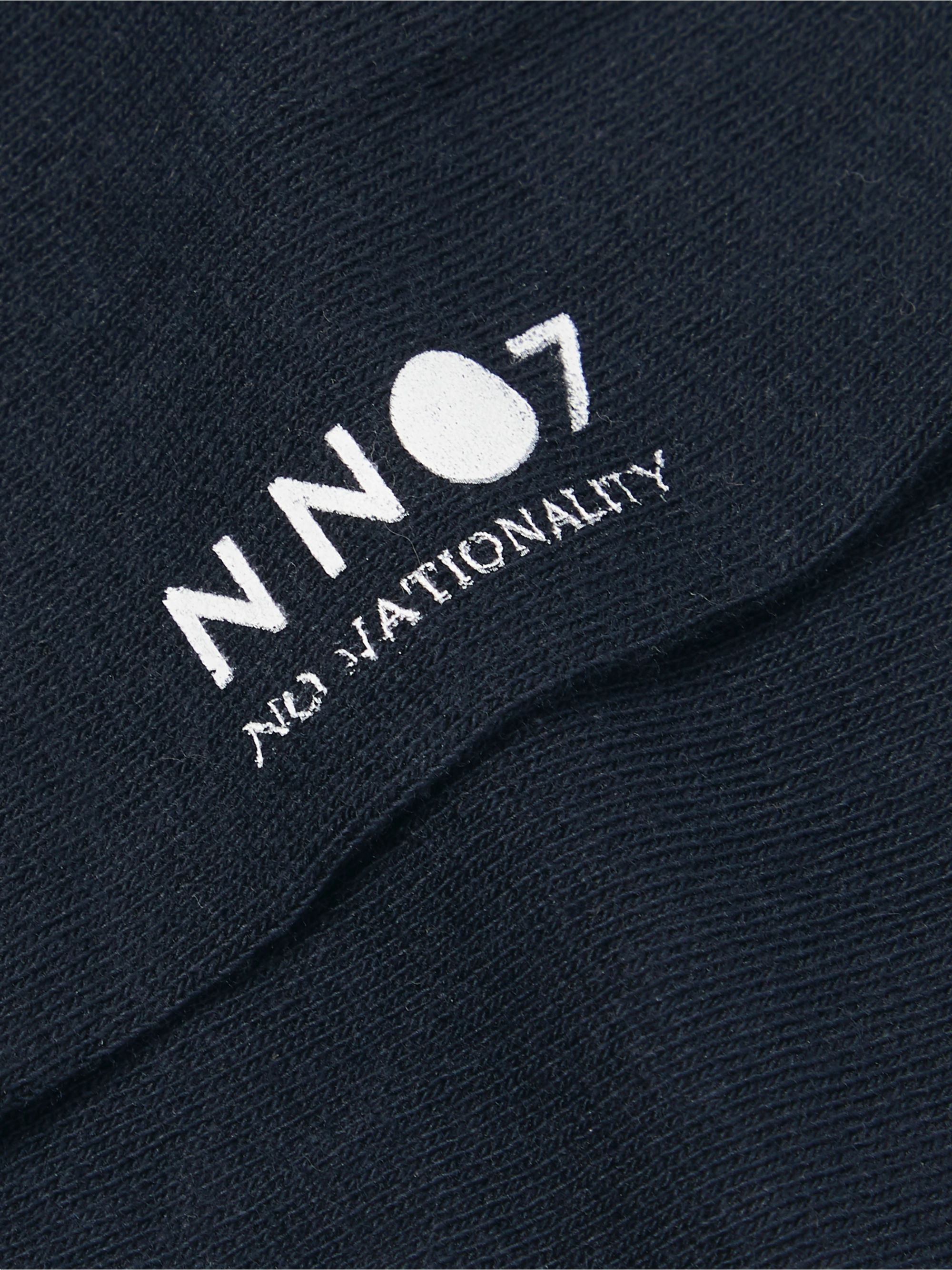 NN07 Set of Three Logo-Print Cotton-Blend No-Show Socks