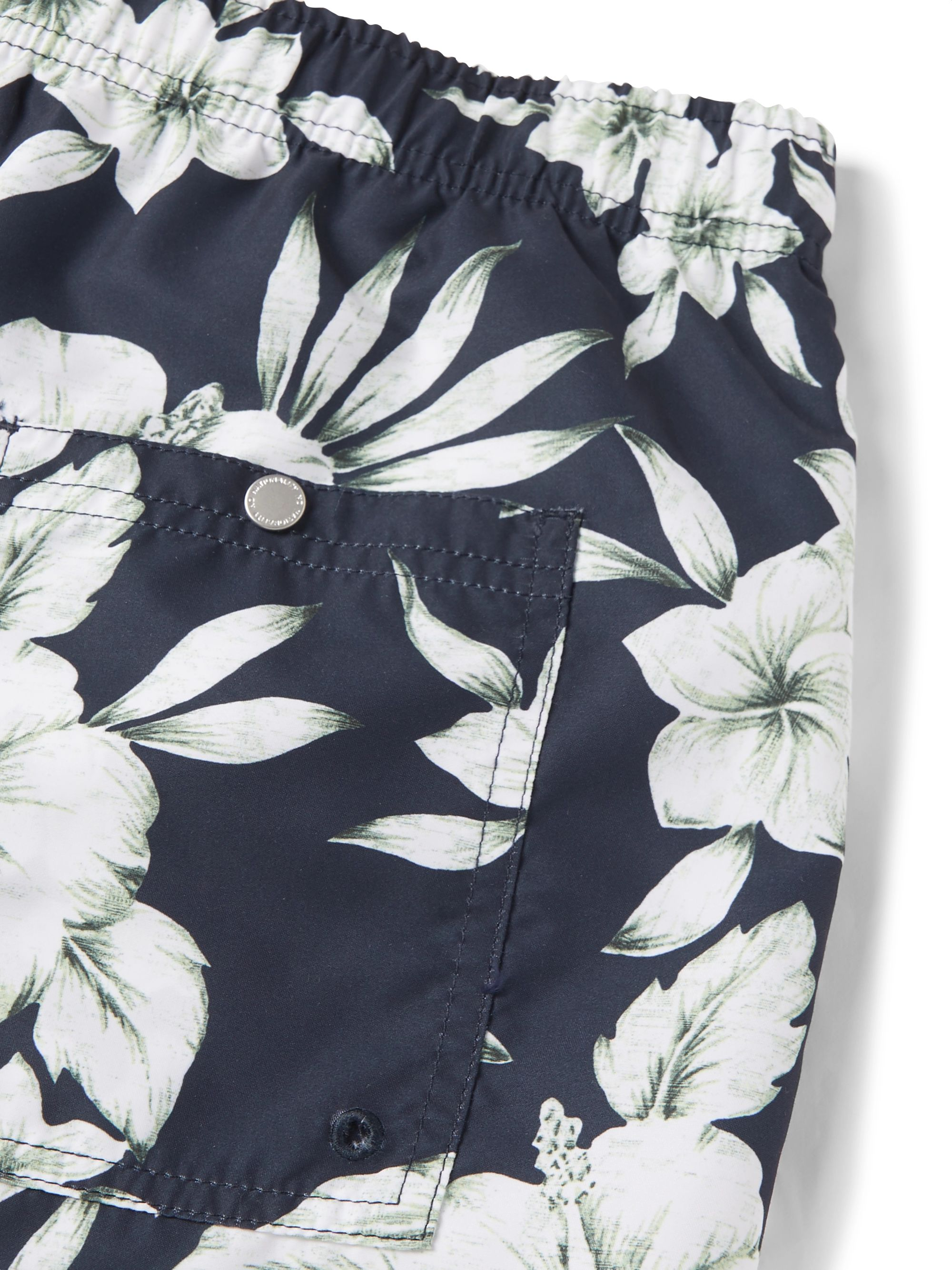 Navy Jules Slim-fit Printed Swim Shorts | Nn07