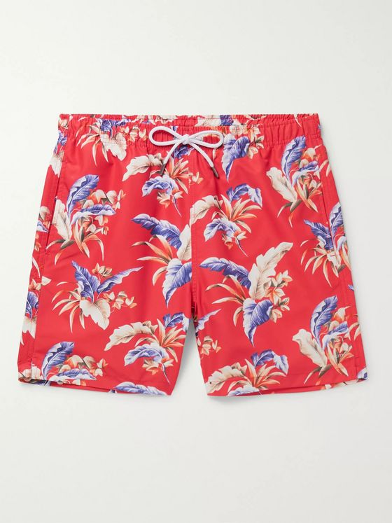 NN07 Jules Slim-Fit Printed Swim Shorts