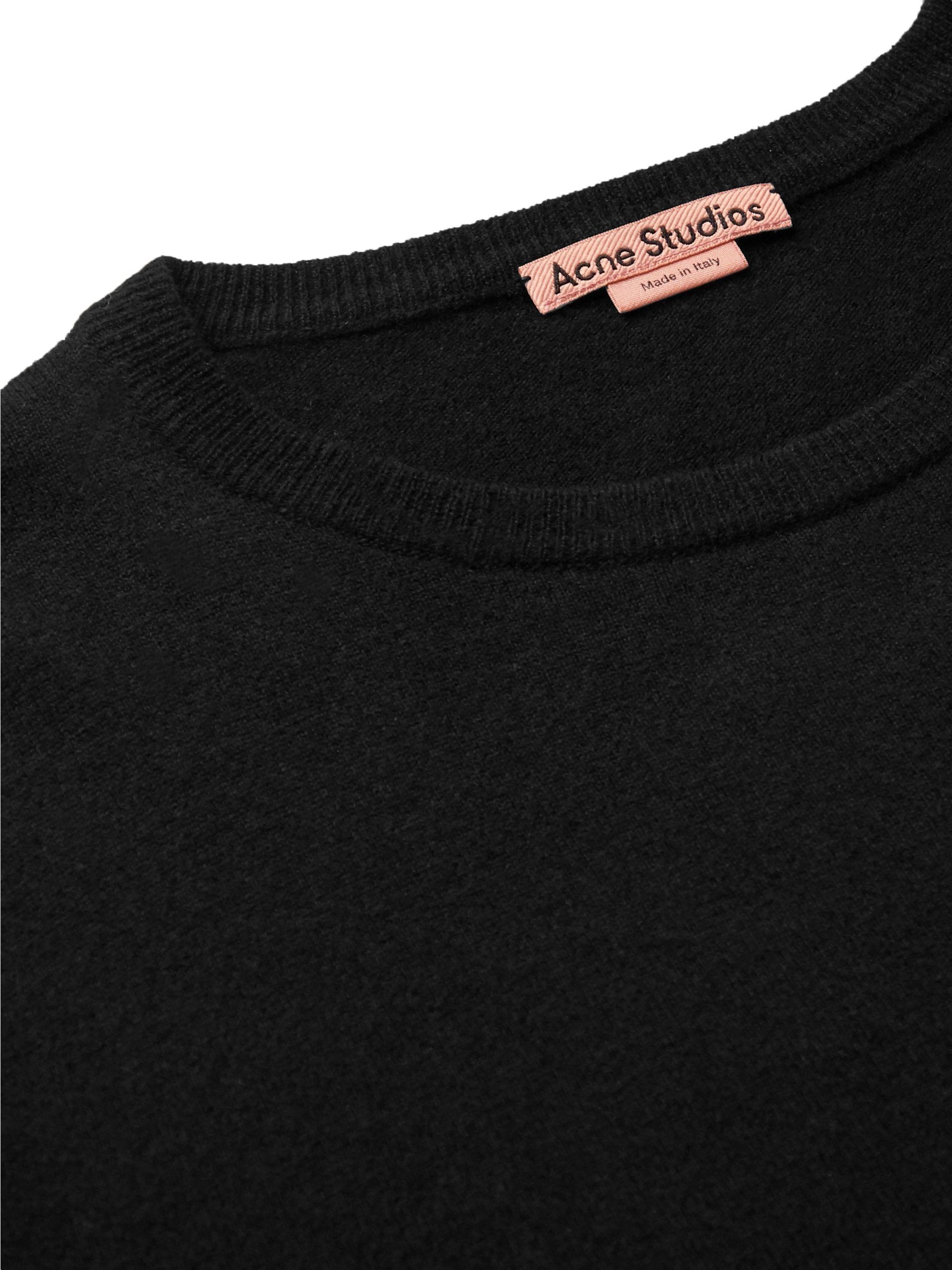Black Wool-blend Sweater | Acne Studios