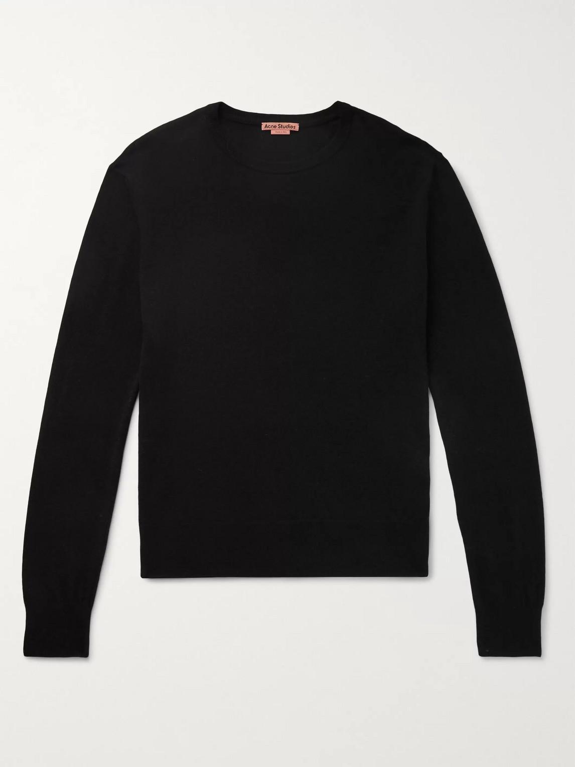 acne studios - wool-blend sweater - men - black
