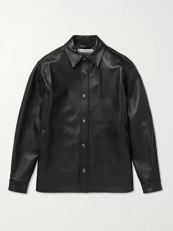 ACNE STUDIOS Lark Leather Overshirt