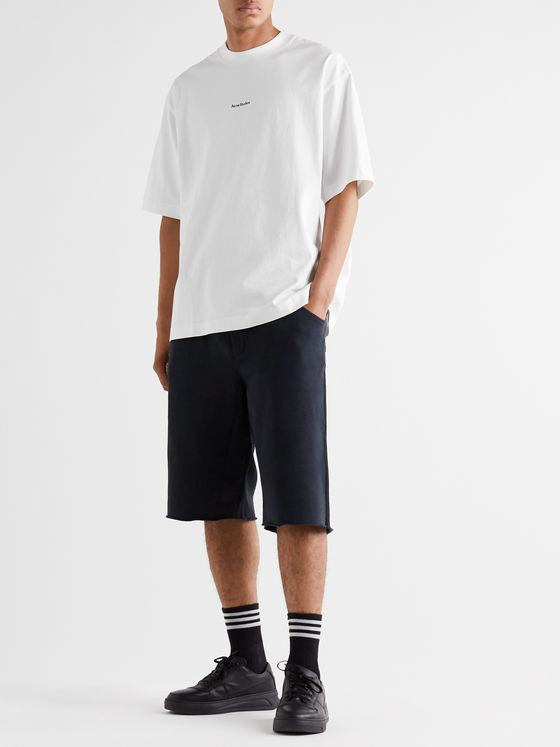 Acne Studios Logo-Print Garment-Dyed Cotton-Jersey T-Shirt