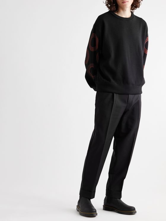 ACNE STUDIOS Pierre Tapered Pleated Wool and Mohair-Blend Trousers