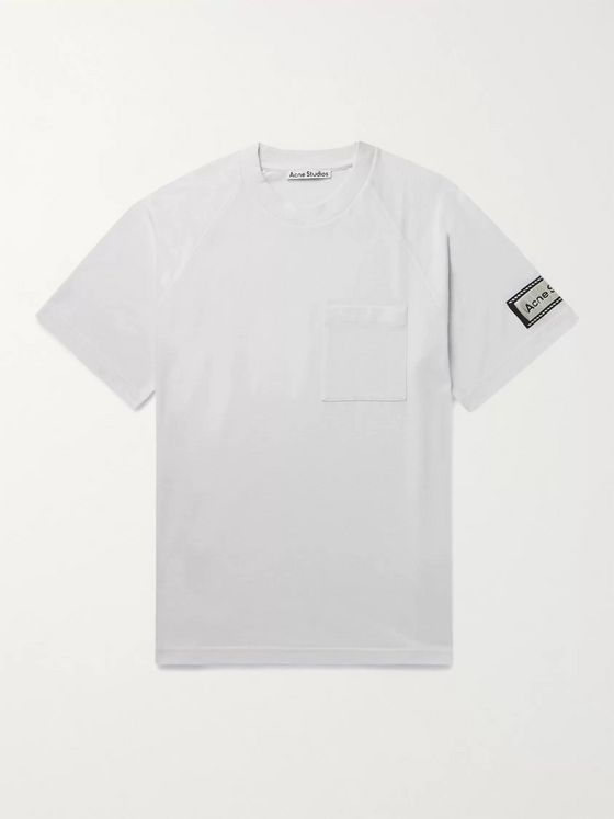 ACNE STUDIOS Emeril Logo-Appliquéd Cotton-Blend Jersey T-Shirt