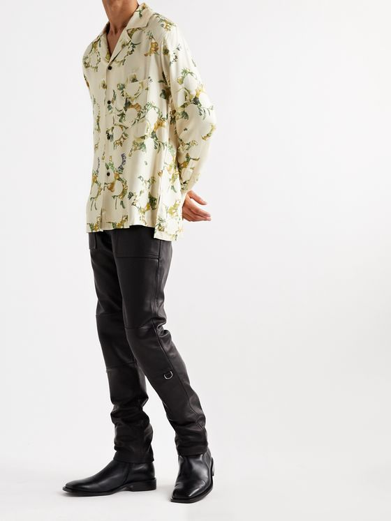 ACNE STUDIOS Simon Camp-Collar Floral-Print Twill Shirt