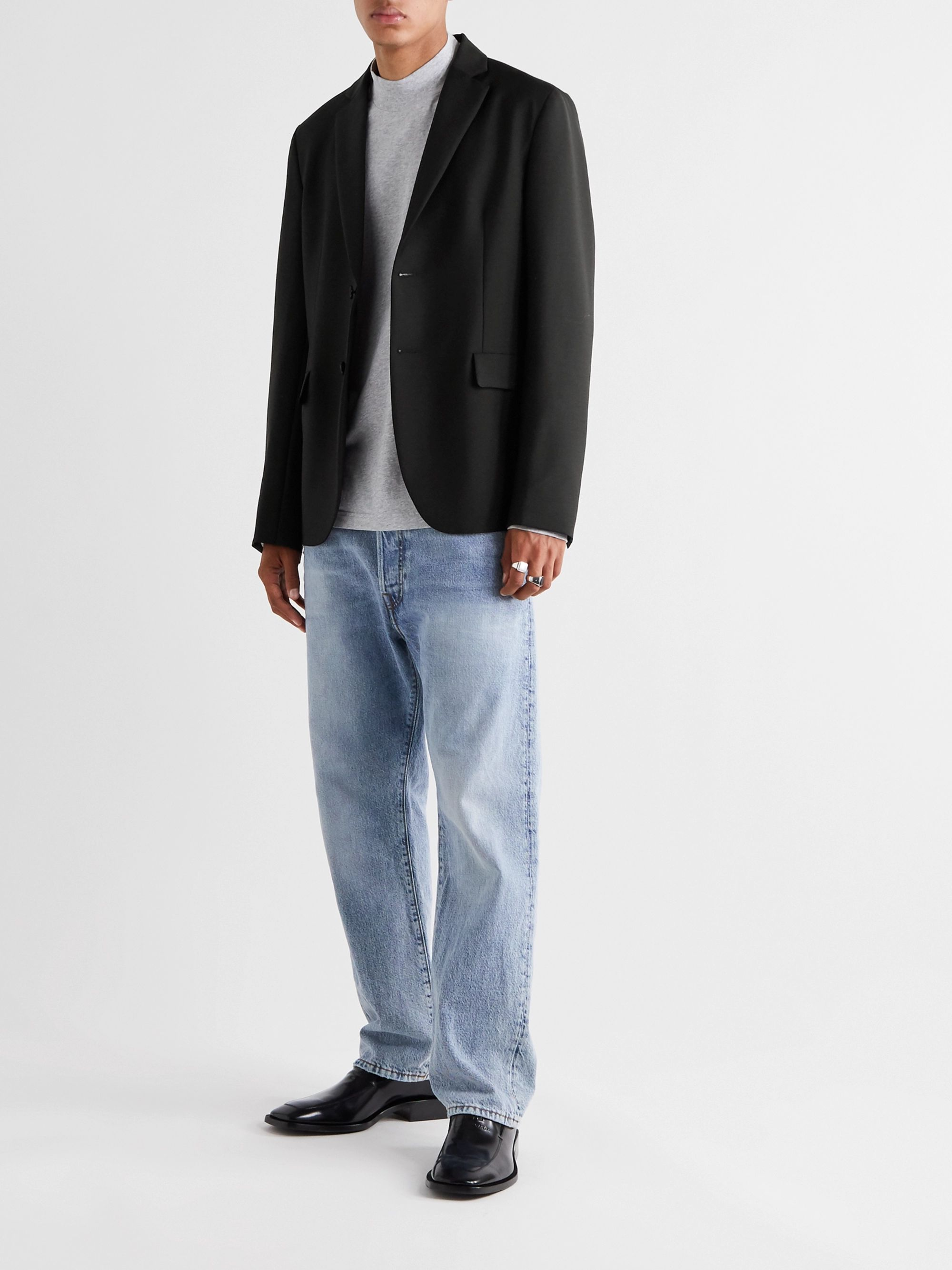 Acne Studios Slim-Fit Unstructured Wool and Mohair-Blend Blazer