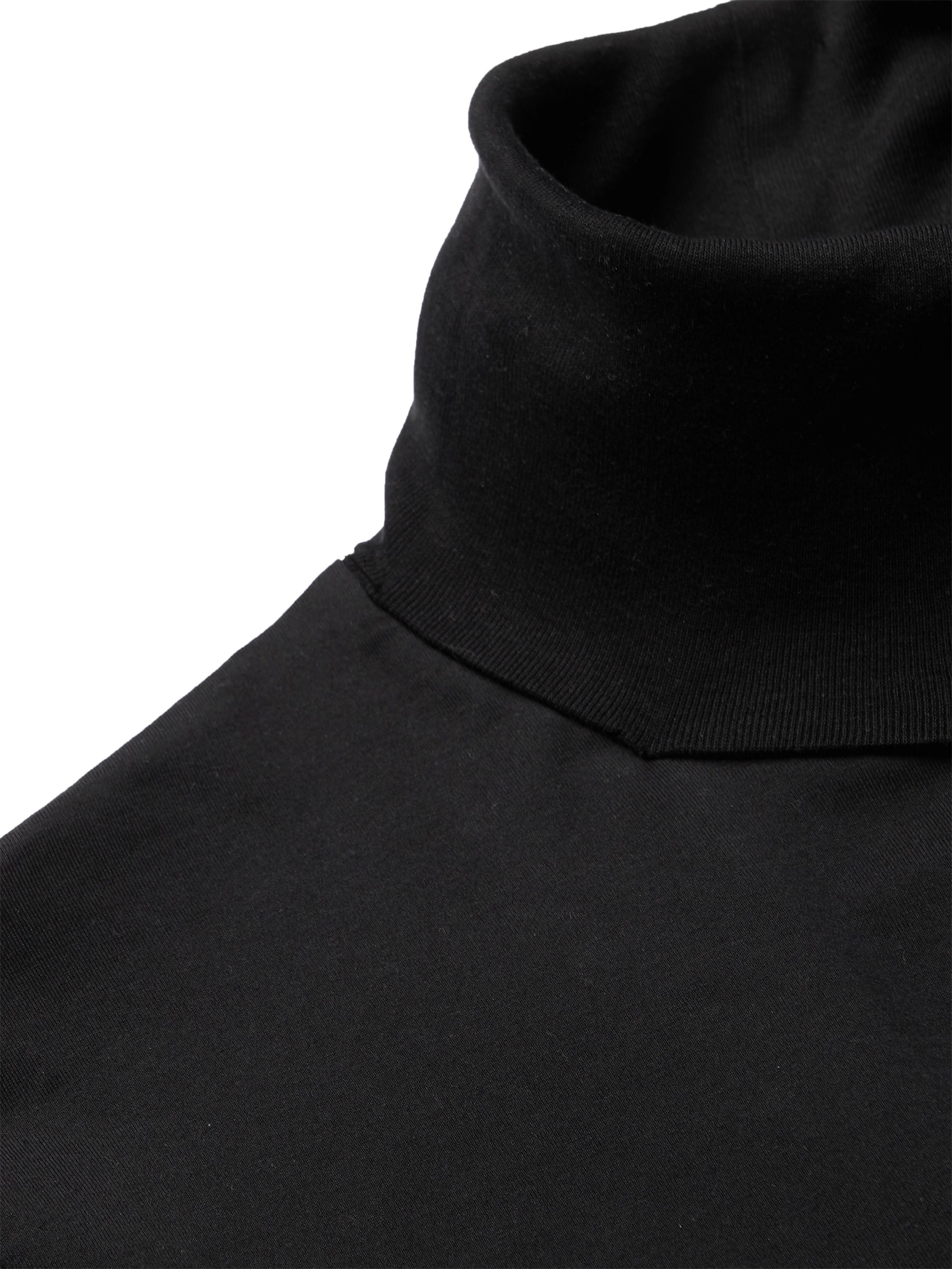 Black Cotton-jersey Rollneck T-shirt | Acne Studios