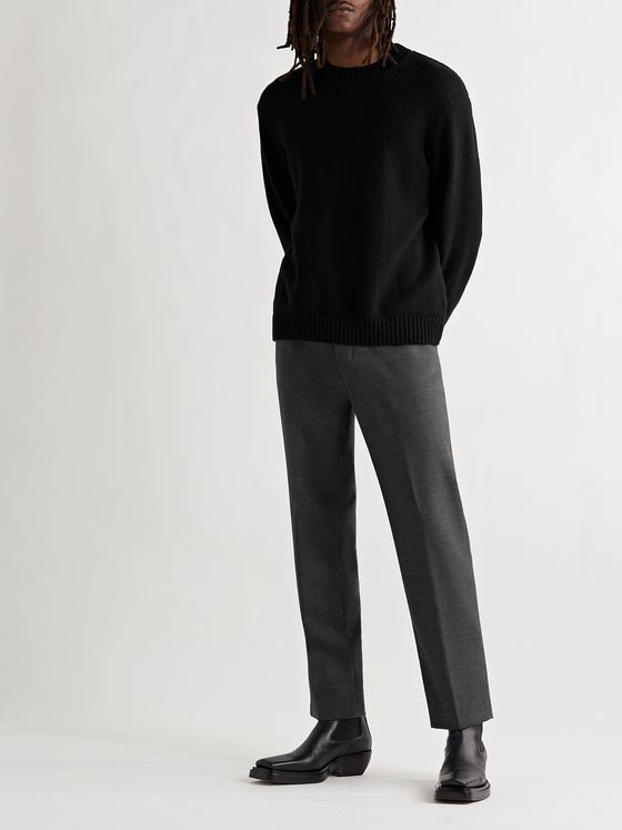 ACNE STUDIOS Pismo Mélange Wool Trousers