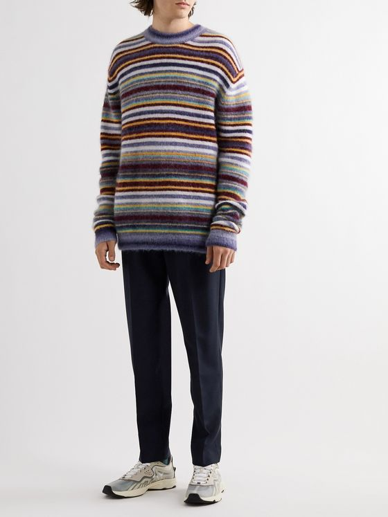 Acne Studios Ryder Tapered Wool and Mohair-Blend Drawstring Trousers
