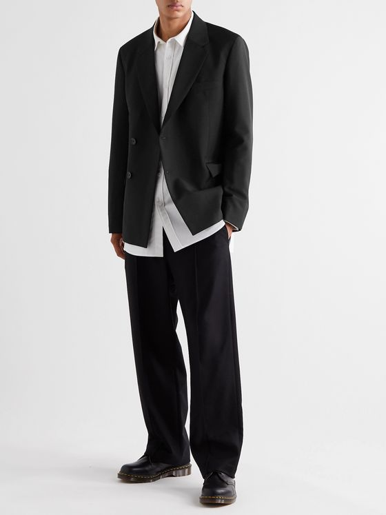 ACNE STUDIOS Double-Breasted Wool and Mohair-Blend Suit Jacket