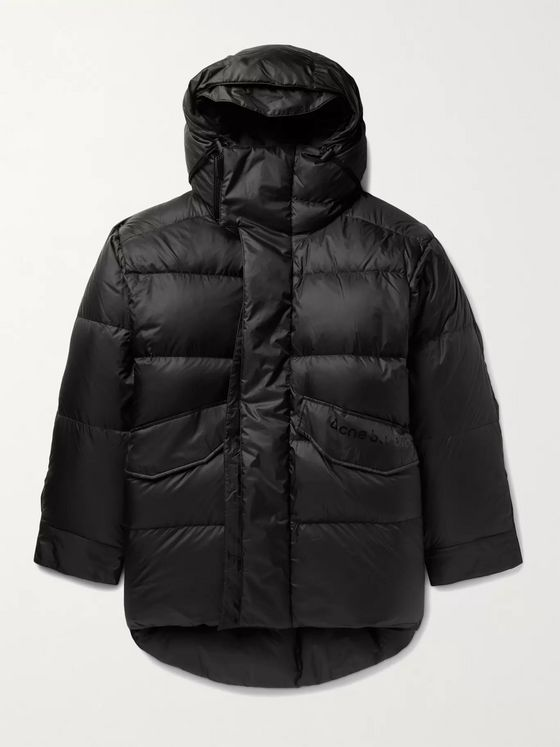 Acne Studios Osiris Oversized Quilted Nylon Hooded Down Jacket