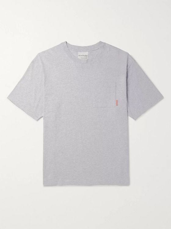 ACNE STUDIOS Oversized Mélange Cotton-Jersey T-Shirt
