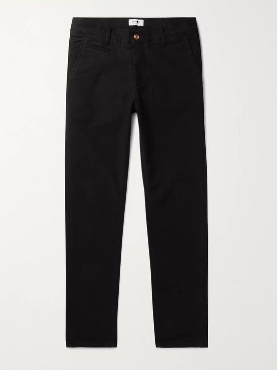 NN07 Tapered Stretch-Cotton Chinos
