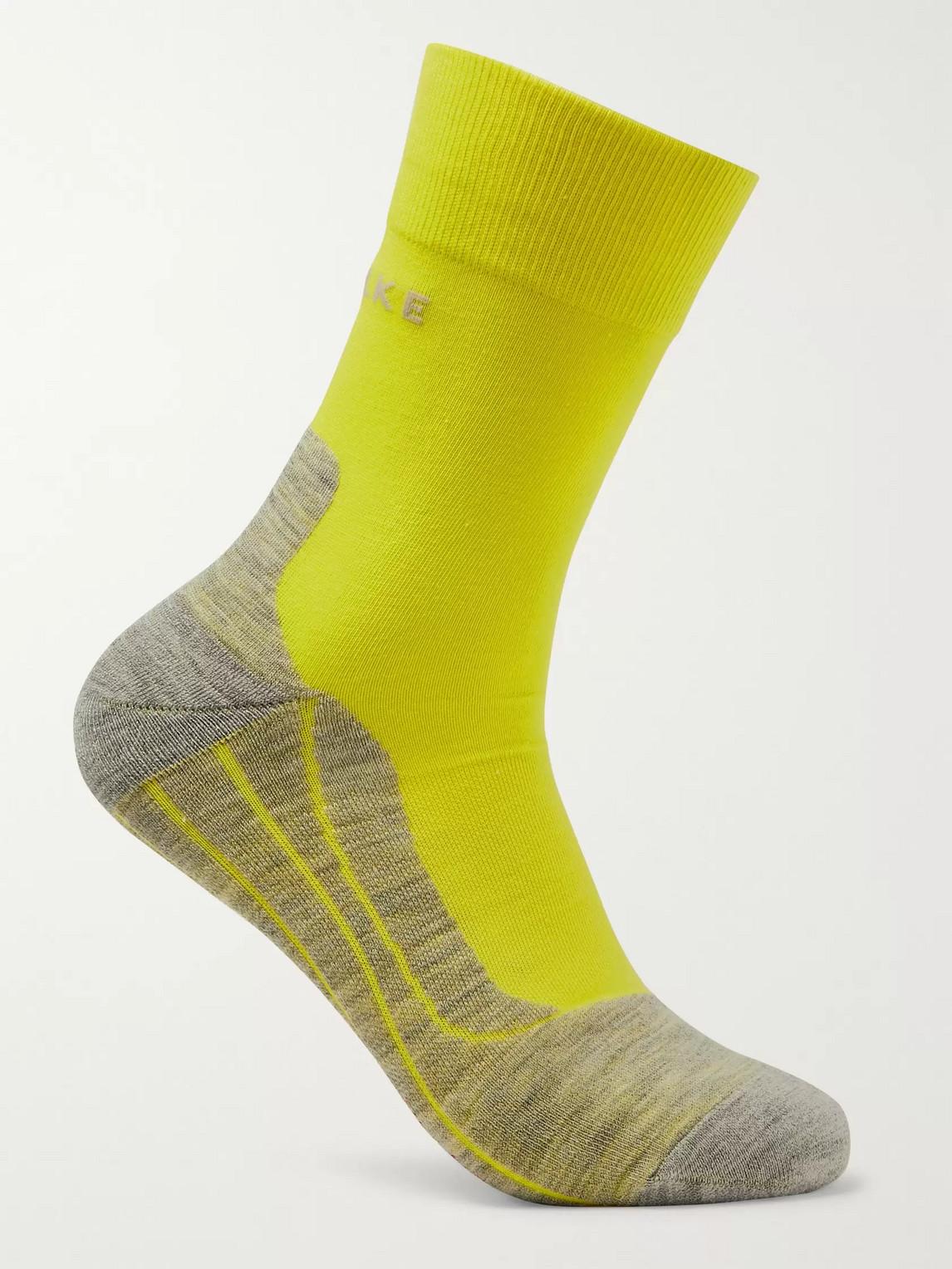 falke ergonomic sport system - ru4 stretch-knit socks - men - yellow