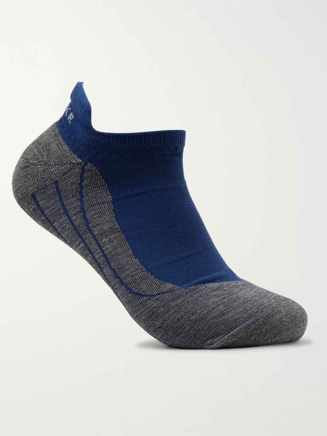 falke ergonomic sport system - ru4 invisible stretch-knit socks - men - blue