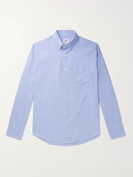 NN07 Levon Button-Down Collar Cotton Shirt