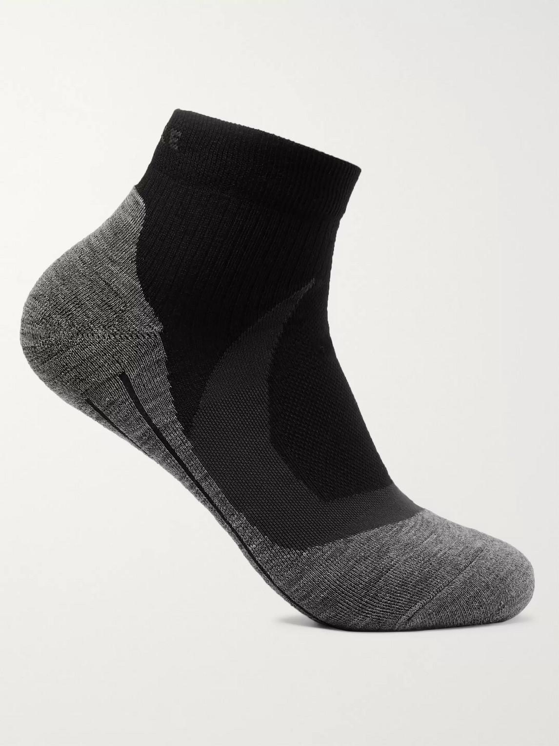 falke ergonomic sport system - ru4 cool stretch-knit socks - men - black