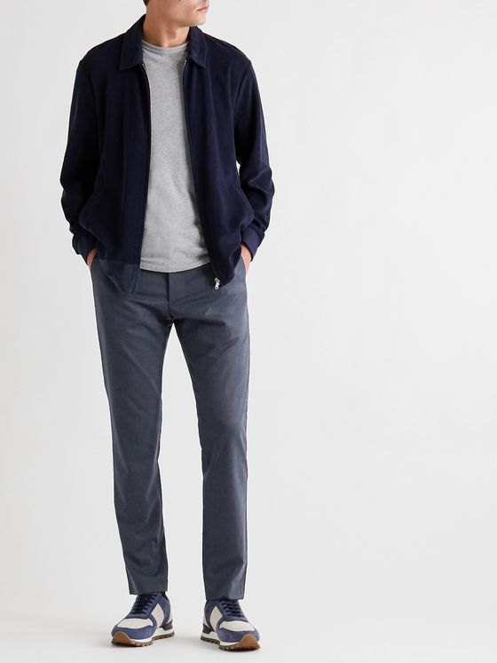 NN07 Theo Slim-Fit Tapered Twill Trousers