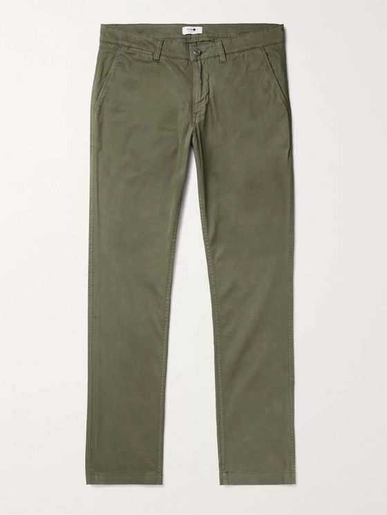 NN07 Marco 1400 Slim-Fit Tapered Stretch-Cotton Twill Chinos