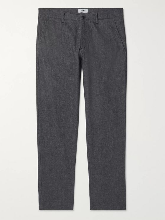 NN07 Karl Tapered Mélange Twill Chinos