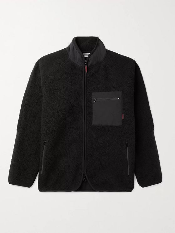 Gramicci Boa Nylon-Trimmed Fleece Jacket