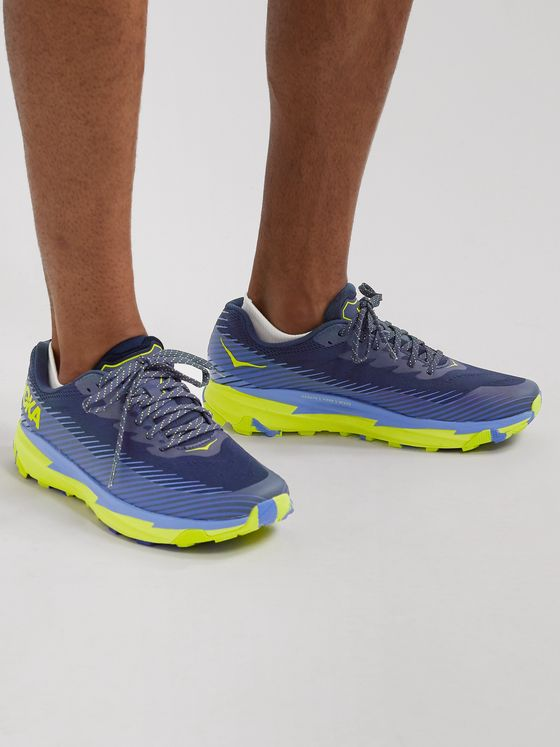 Hoka One One Torrent 2 Rubber-Trimmed Mesh Trail Running Shoes