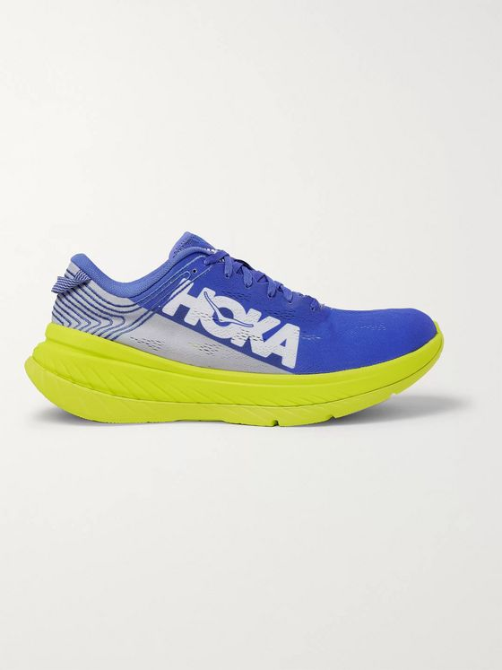 HOKA ONE ONE M Carbon X Embroidered Mesh Running Sneakers