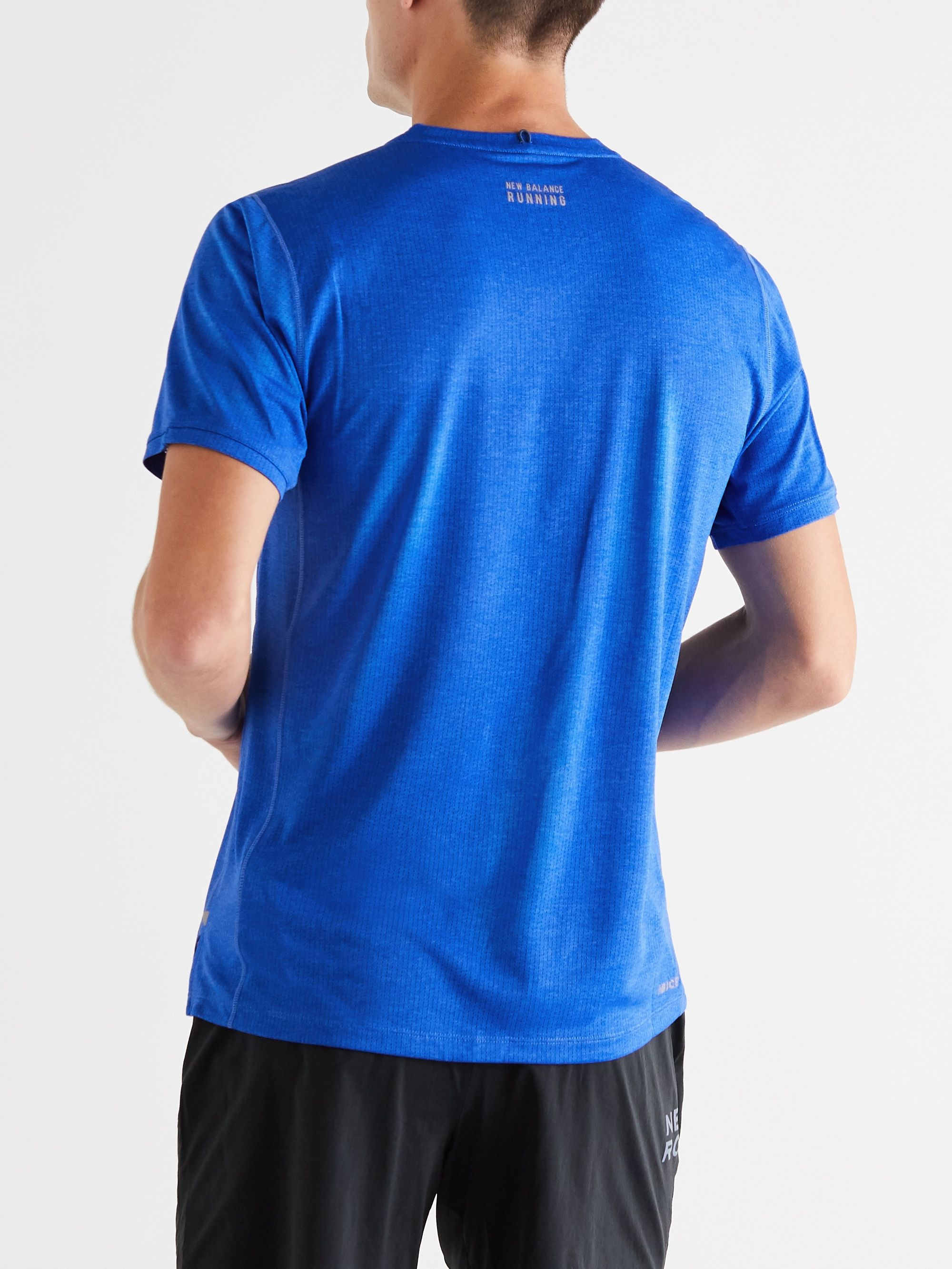 New Balance Impact Perforated Stretch-Jersey T-Shirt