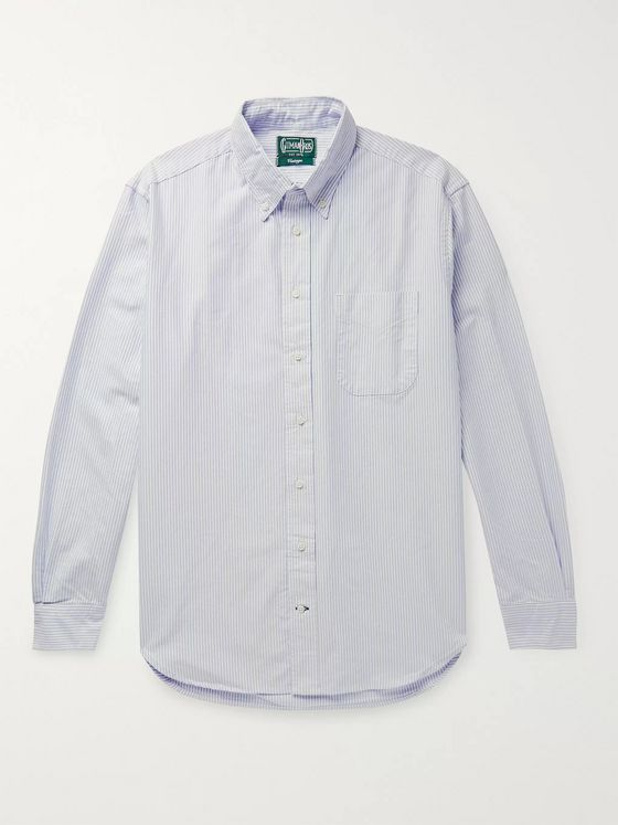 Gitman Vintage Button-Down Collar Striped Cotton Oxford Shirt