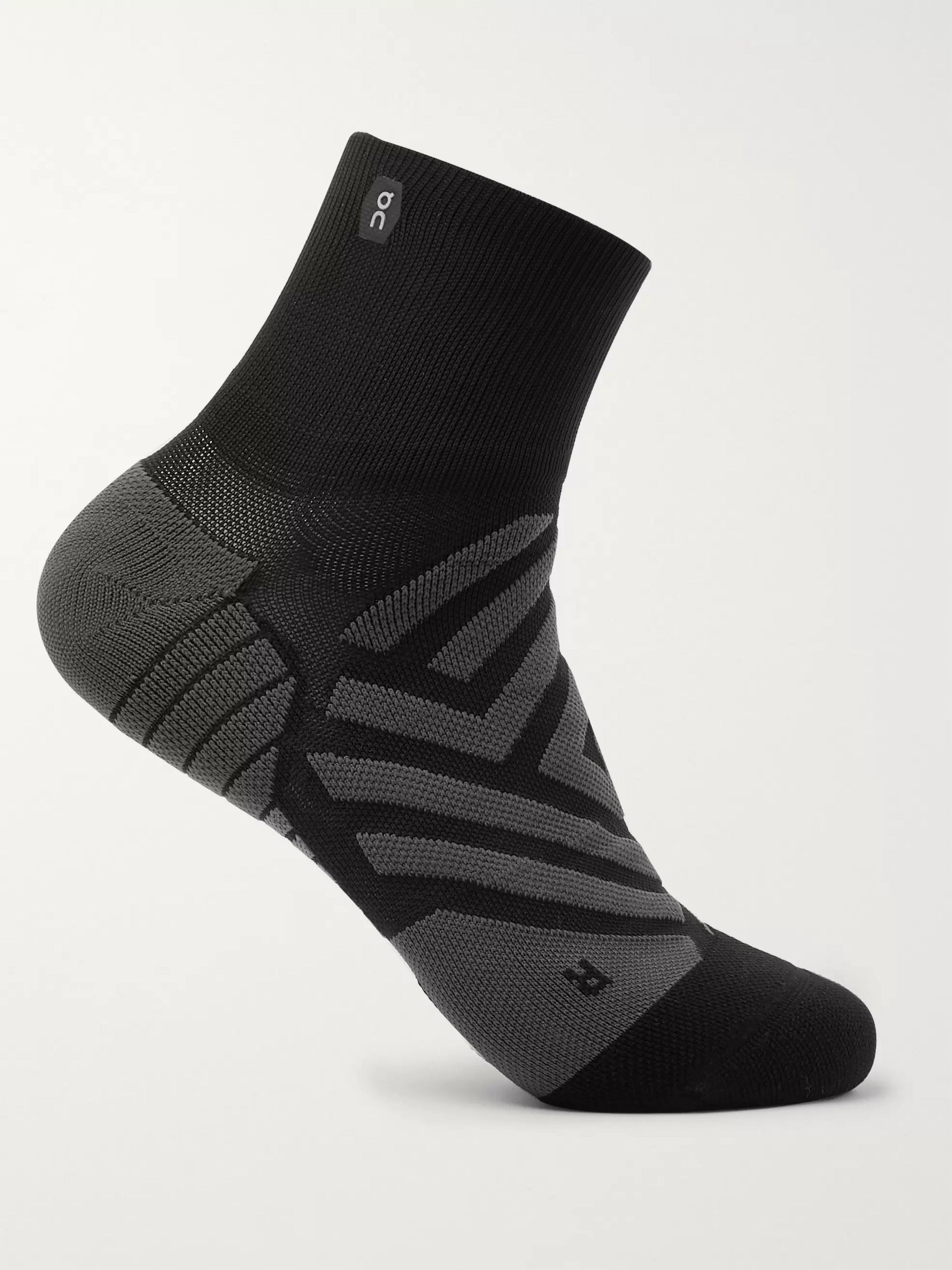 ON Intarsia Stretch-Jersey Socks