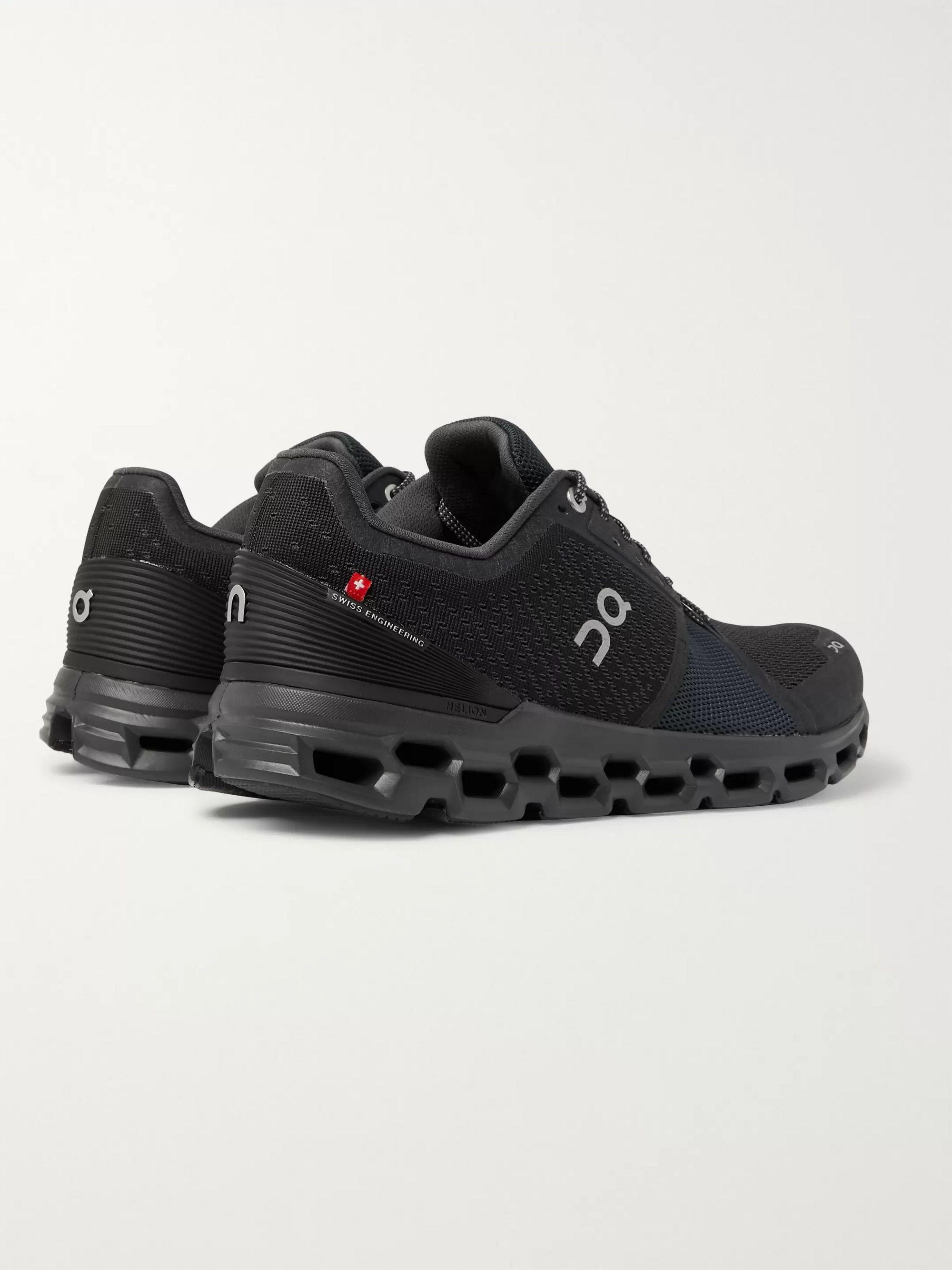 Black Cloudstratus Mesh Running Sneakers   On