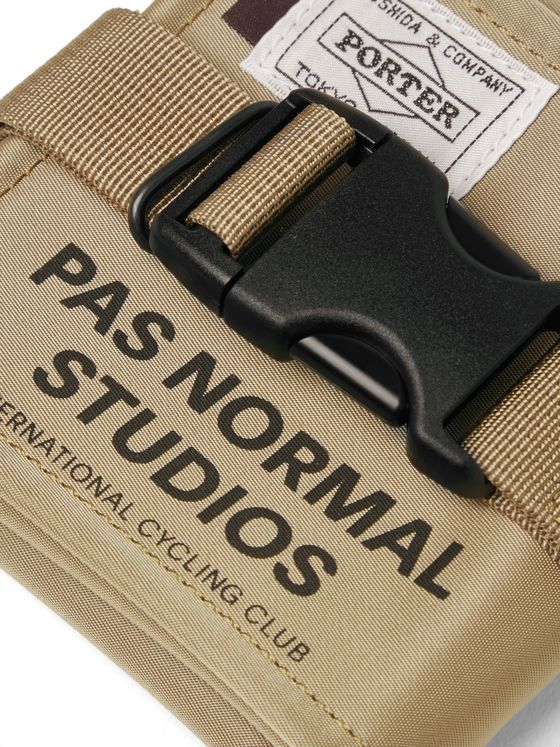 Pas Normal Studios + Porter-Yoshida & Co Logo-Print Shell Pouch