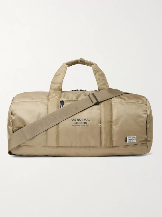 Pas Normal Studios + Porter-Yoshida & Co Logo-Print Shell Duffle Bag