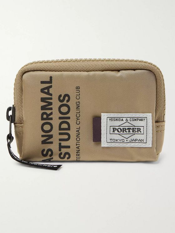 Pas Normal Studios + Porter-Yoshida & Co Logo-Print Shell Coin Wallet